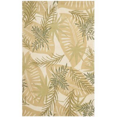Mandarin Hand-Tufted Green/Beige Area Rug Rug Size: Rectangle 4 x 6