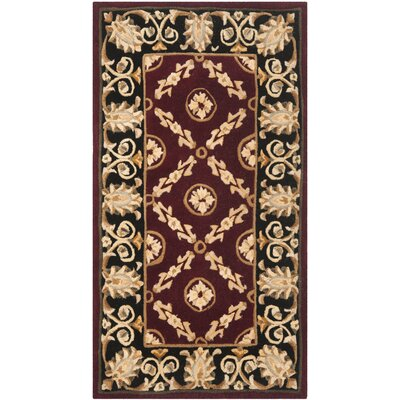 Naples Burgundy/Black Area Rug