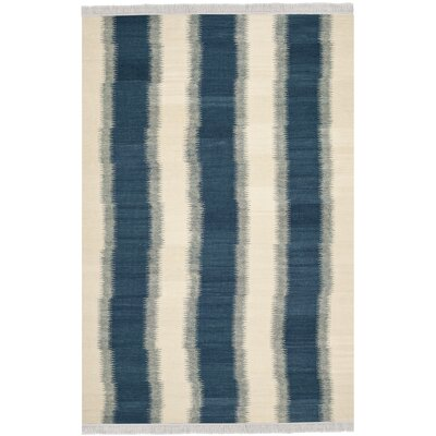 Brook Lane Blue & Ivory Area Rug Rug Size: 8 x 10