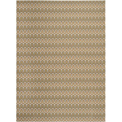 Hampton Brown/Camel Chevron Outdoor Area Rug Rug Size: 67 x 96