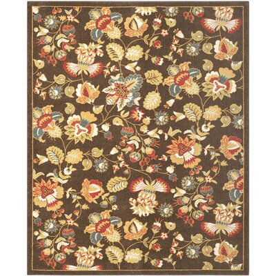 Newport Brown/Green Floral Area Rug Rug Size: 8 x 10