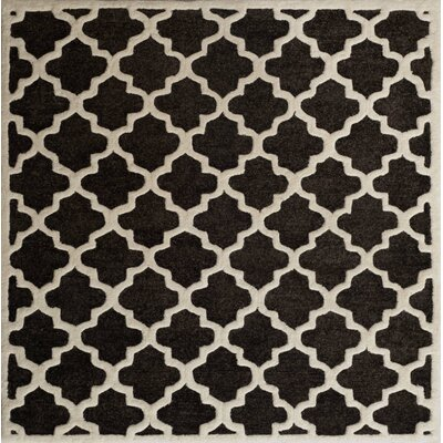 Precious Charcoal Rug Rug Size: Square 5