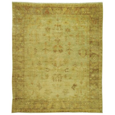 Oushak Soft Green/Rust Area Rug Rug Size: 9 x 12