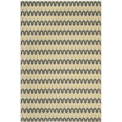 Hampton Light Ivory Outdoor Area Rug Rug Size: 67 x 96