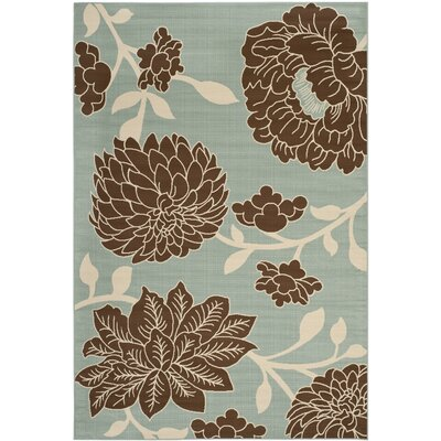 Hampton Light Grey Floral Outdoor Area Rug Rug Size: 67 x 96