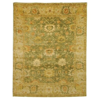 Oushak Green/Beige Area Rug Rug Size: 8' x 10'