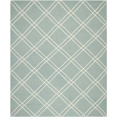 Dhurries Light Blue/Ivory Area Rug Rug Size: 6' x 9'