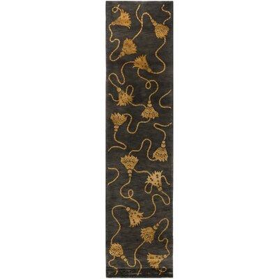 Tibetan Plum / Gold Rug Rug Size: 9 x 12