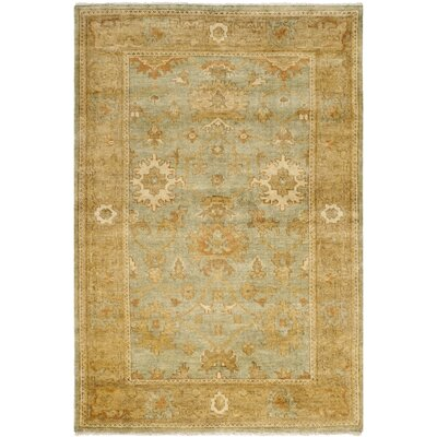 Oushak Dark Green/Brown Area Rug Rug Size: 4 x 6