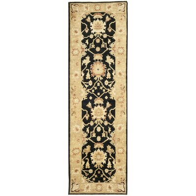 Oushak Black/Light Gold Area Rug Rug Size: Runner 3 x 10