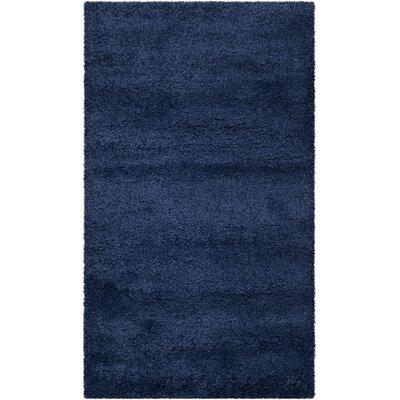 Milan Shag Navy Blue Area Rug Rug Size: 3' x 5'