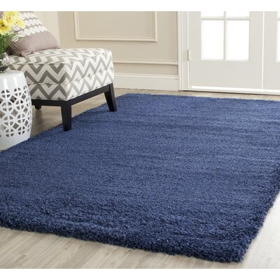 Holliday Navy Blue Area Rug Rug Size: Rectangle 10 x 14