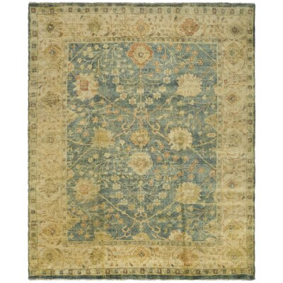 Oushak Medium Blue / Green Rug Rug Size: 8 x 10