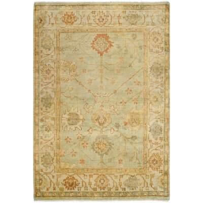 Oushak Dark Green / Light Green Rug Rug Size: 6 x 9