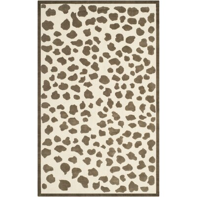 Claro Brown & White Area Rug Rug Size: 5 x 8