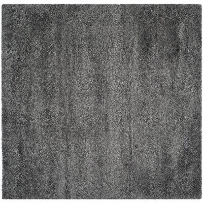 Maya Handmade Dark Gray Area Rug Rug Size: Square 53
