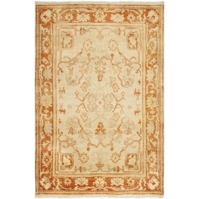 Oushak Brown Area Rug Rug Size: 6 x 9