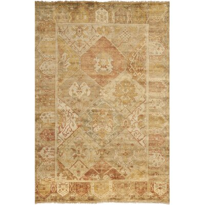 Oushak Gold/Brown Area Rug Rug Size: 6 x 9