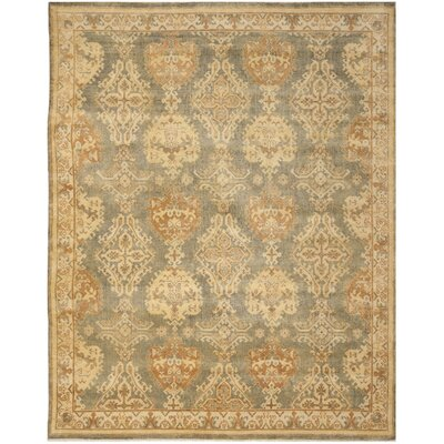 Oushak Brown/Tan Area Rug Rug Size: 9 x 12