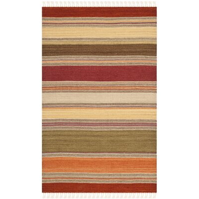 Striped Kilim Rug Rug Size: 26 x 4