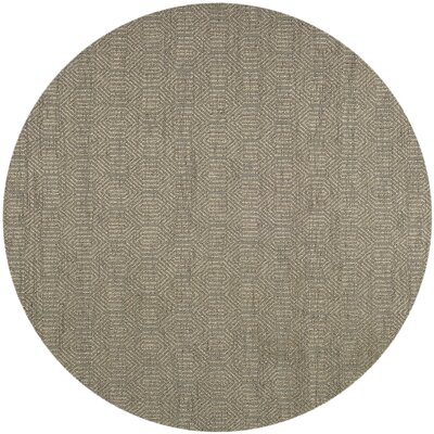 South Hampton Hand-Woven Grey Area Rug Rug Size: Square 7