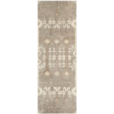 Roberts Hand-Tufted Brown Area Rug Rug Size: Runner 23 x 7