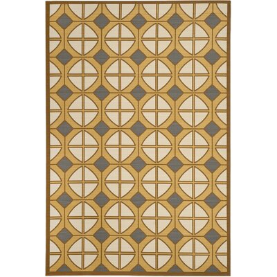 Hampton Ivory Geometric Outdoor Area Rug Rug Size: 67 x 96
