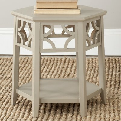Connor Hexagon End Table Finish: Pearl Taupe