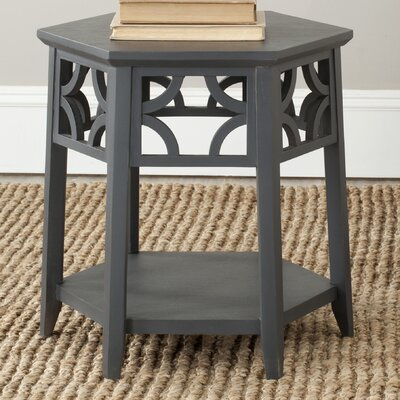 Connor Hexagon End Table Finish: Charcoal Grey