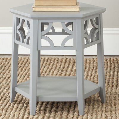 Connor Hexagon End Table Finish: Pearl Blue Grey