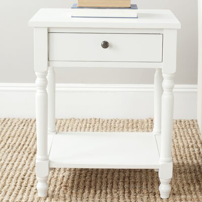 Apache End Table Color: Off White
