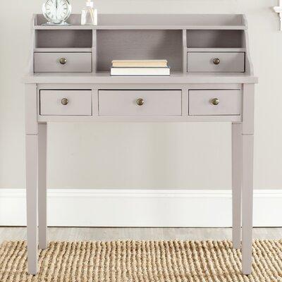 Landon Secretary Writing Desk Finish: Grey