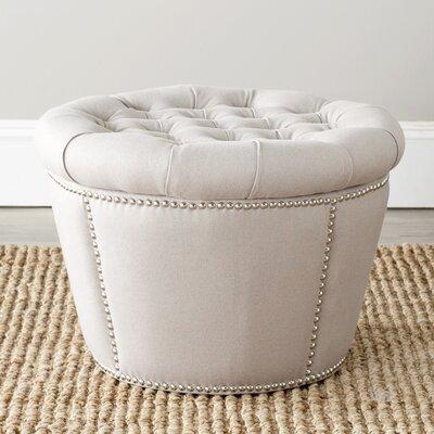 Vanessa Storage Ottoman Upholstery: Taupe