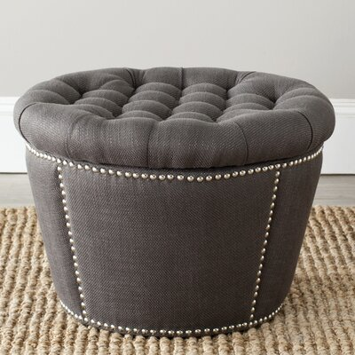 Vanessa Storage Ottoman Upholstery: Charcoal