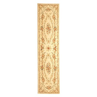 French Tapis Ivory Floral Area Rug