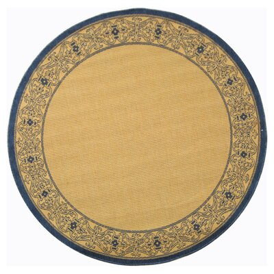 Courtyard Natural Outdoor Area Rug Rug Size: Round 6'7