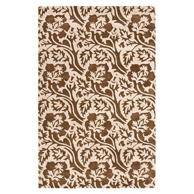 Soho Brown / Ivory Contemporary Rug Rug Size: Rectangle 76 x 96