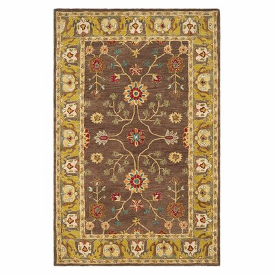 Anatolia Brown/Gold Area Rug Rug Size: Rectangle 8 x 10