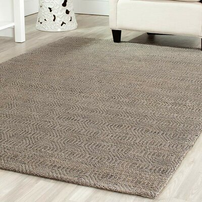 South Hampton Hand-Woven Grey Area Rug Rug Size: Rectangle 76 x 96
