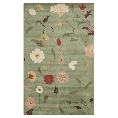 Jardin Sage / Multi Floral Rug Rug Size: 3 x 5