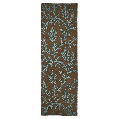Soho Brown/Light Blue Area Rug Rug Size: Runner 26 x 8