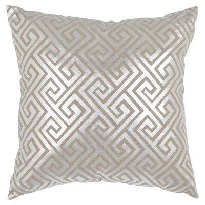 Jayden Linen Throw Pillow Size: 18 H x 18 W, Color: Silver