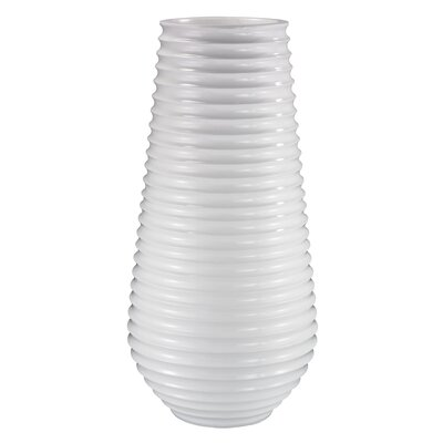 Fiberglass Pot Planter Finish: Glossy White 166-007