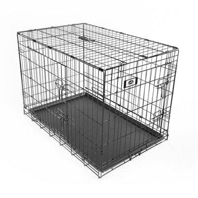 Deluxe 2 Door with Divider Steel Wire Collapsible Pet Crate
