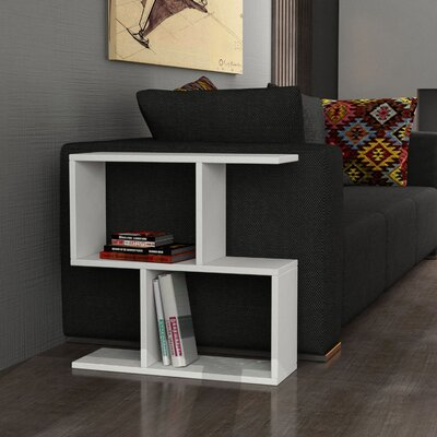 Homemania End Table Color: White