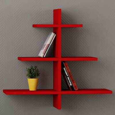 Agac Floating Shelf Finish: Red