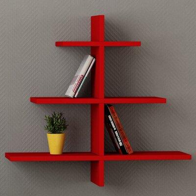 Agac Floating Shelf Finish: Red