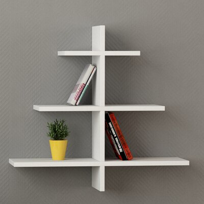 Agac Floating Shelf Finish: White