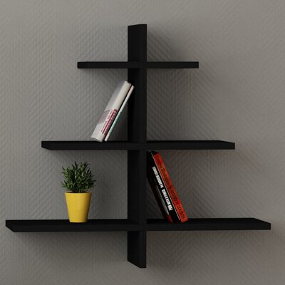 Agac Floating Shelf Finish: Black