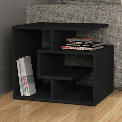 Labirent End Table Finish: Black